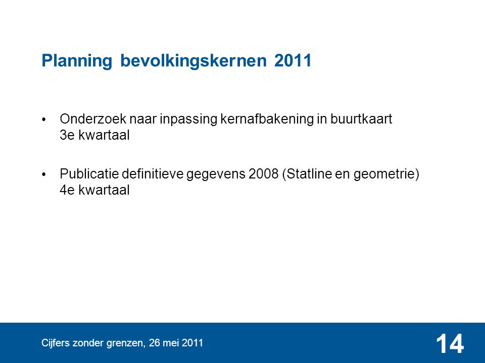Planning bevolkingskernen 2011