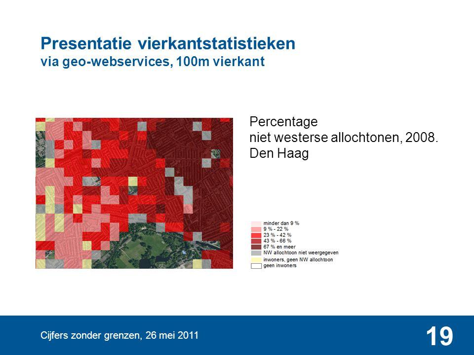 Presentatie vierkantstatistieken via geo-webservices, 100m vierkant