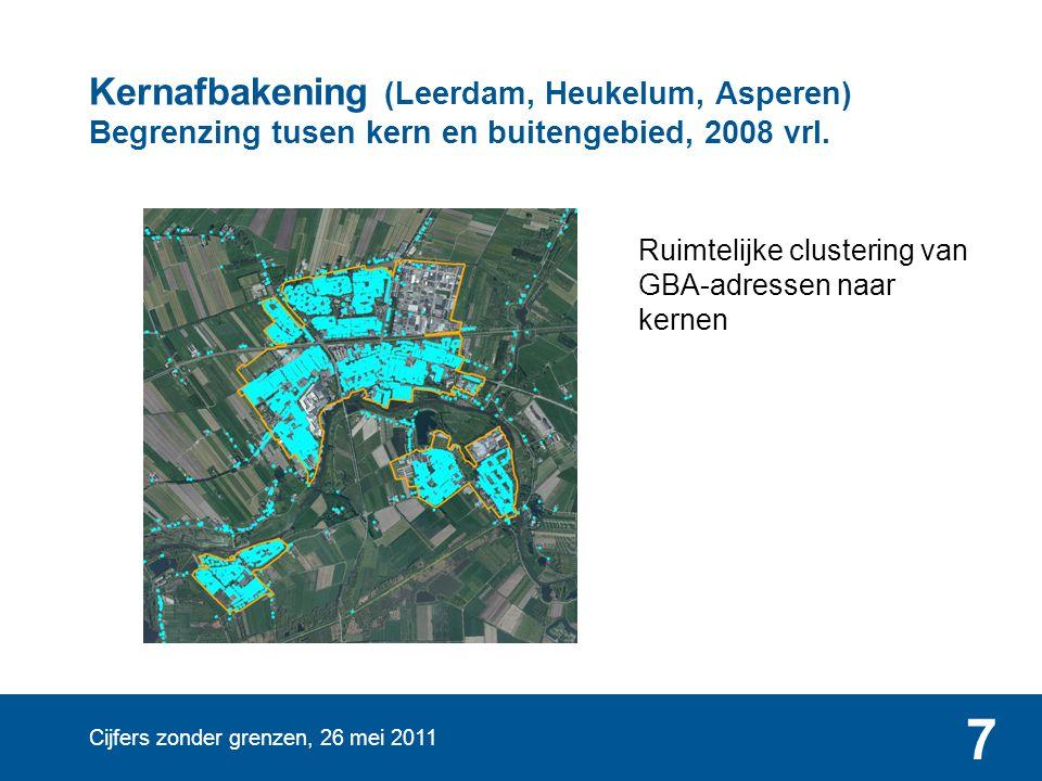 Kernafbakening (Leerdam, Heukelum, Asperen) Begrenzing tusen kern en buitengebied, 2008 vrl.