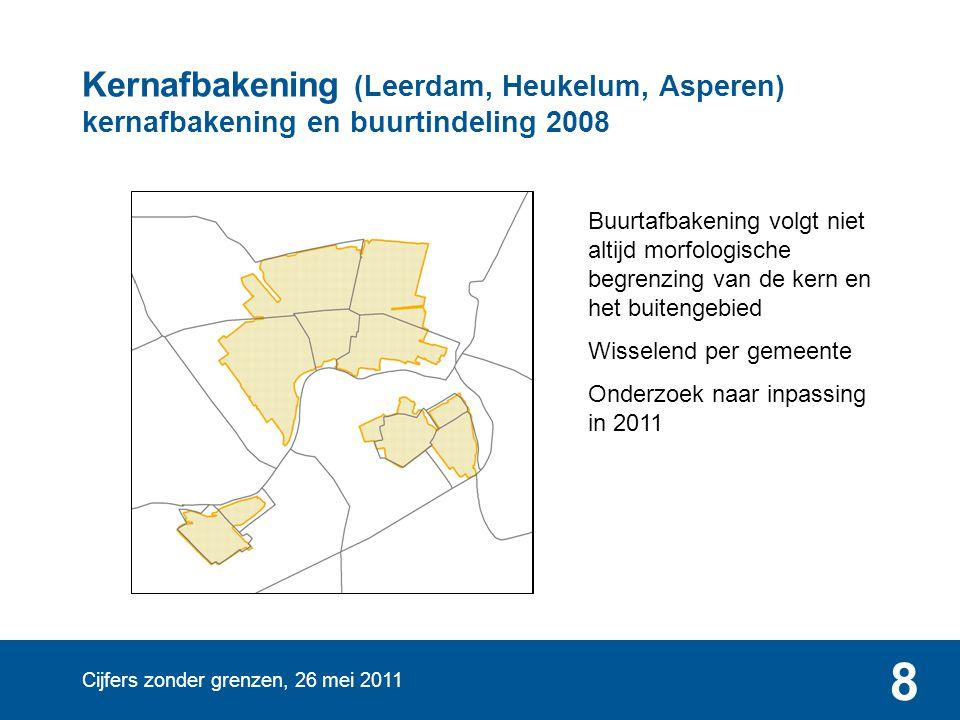 Kernafbakening (Leerdam, Heukelum, Asperen) kernafbakening en buurtindeling 2008