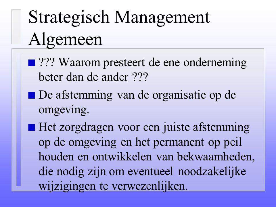 Strategisch Management Algemeen