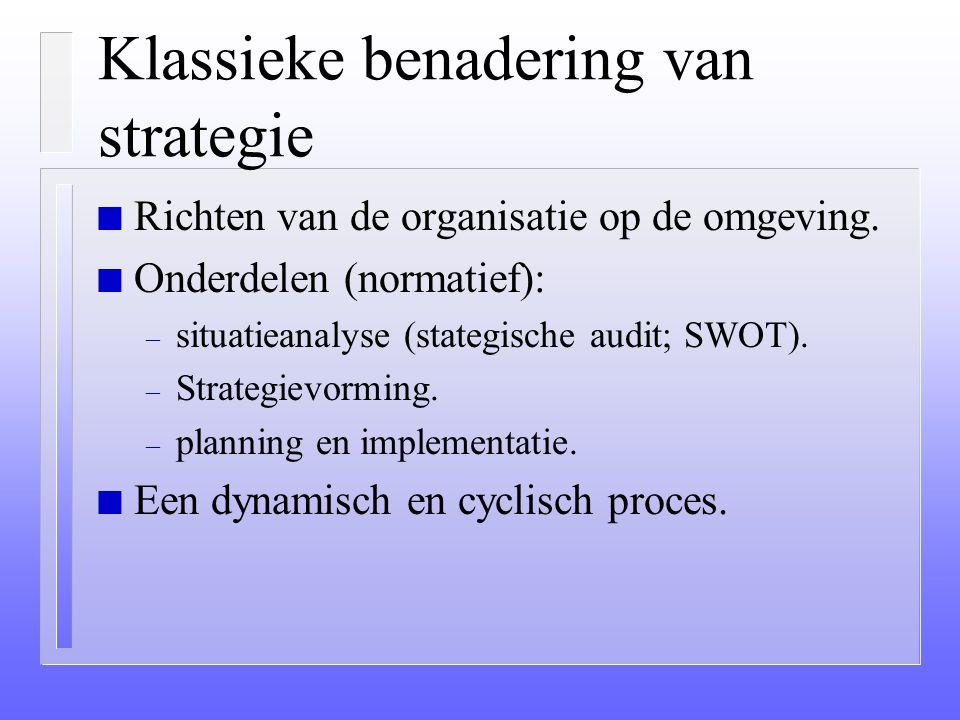 Klassieke benadering van strategie