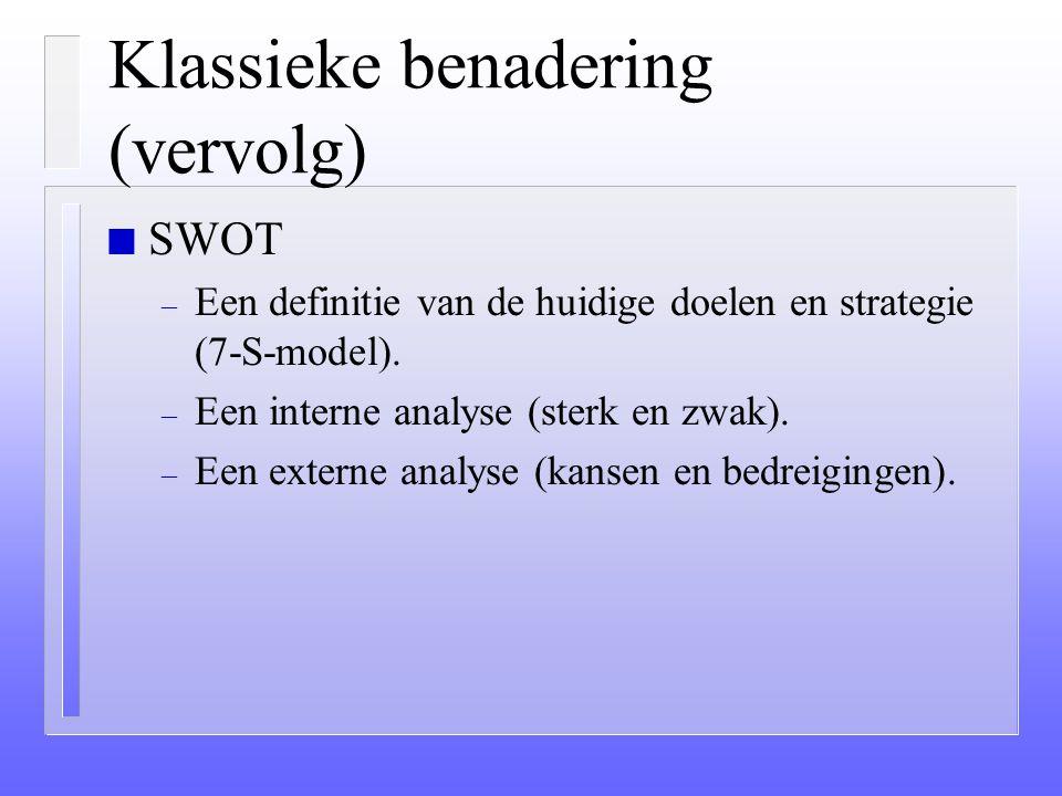 Klassieke benadering (vervolg)