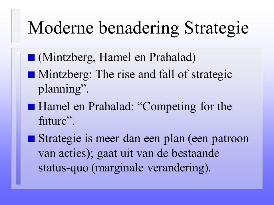 Moderne benadering Strategie