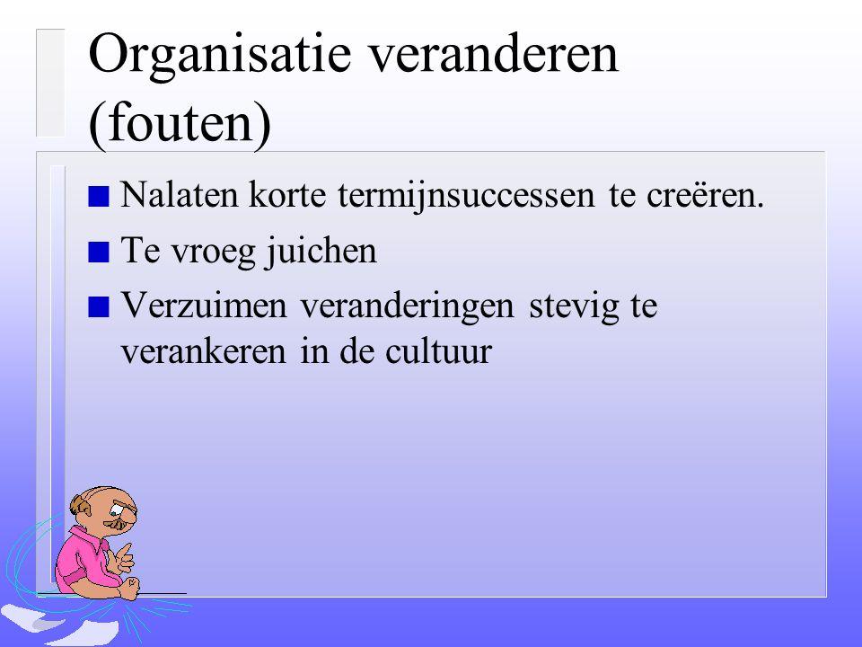 Organisatie veranderen (fouten)