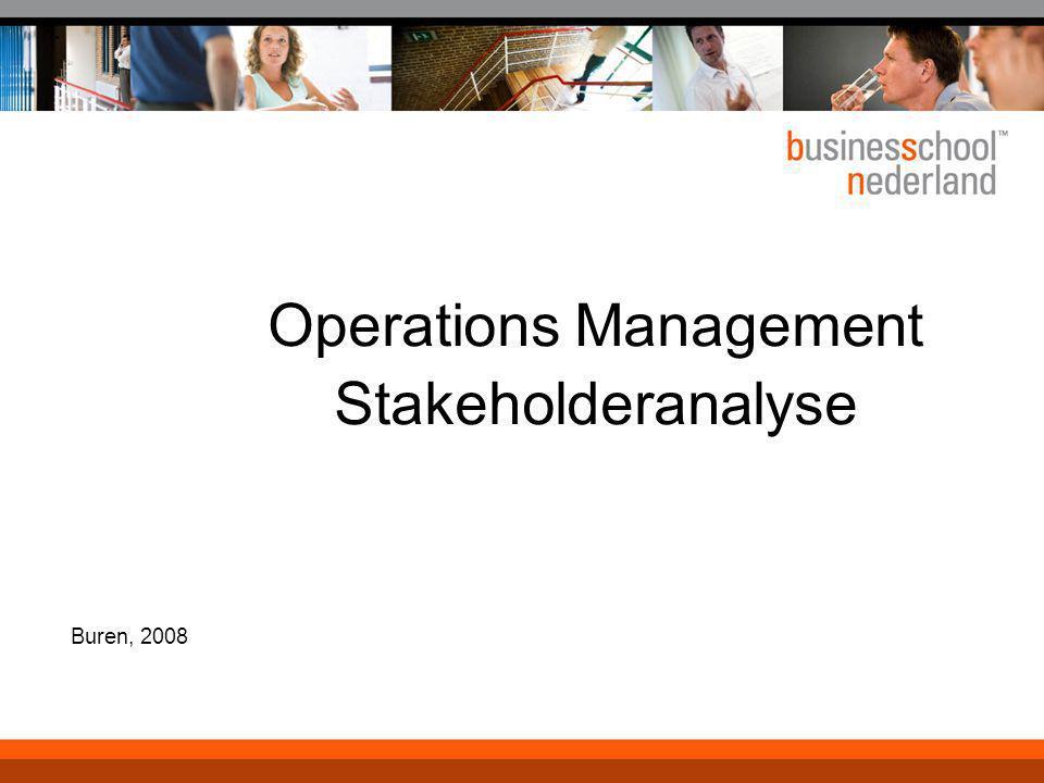 Operations Management Stakeholderanalyse