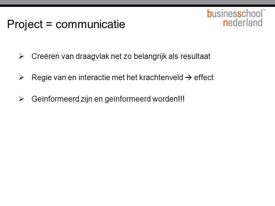 Project = communicatie