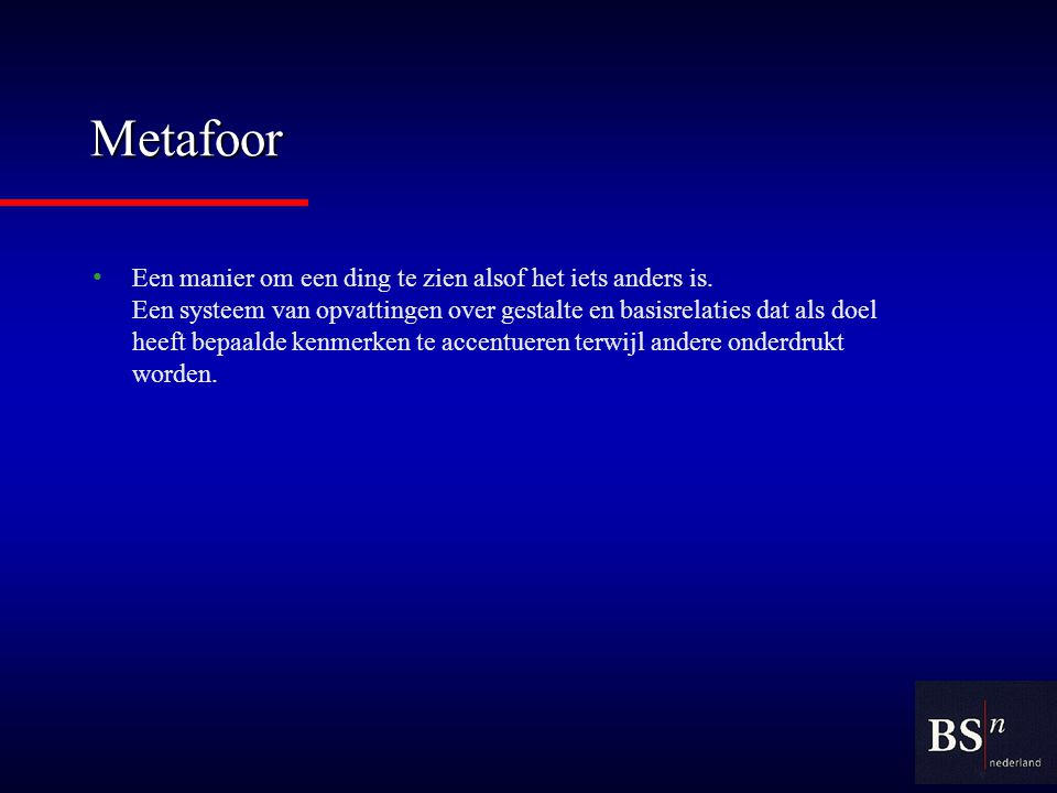 Metafoor