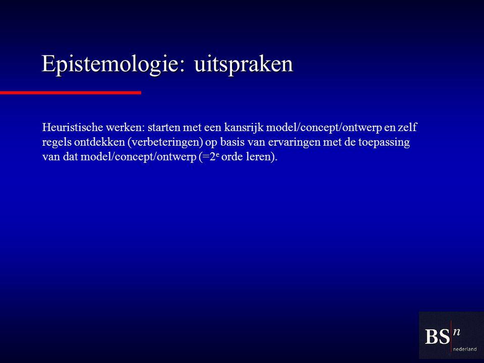 Epistemologie: uitspraken