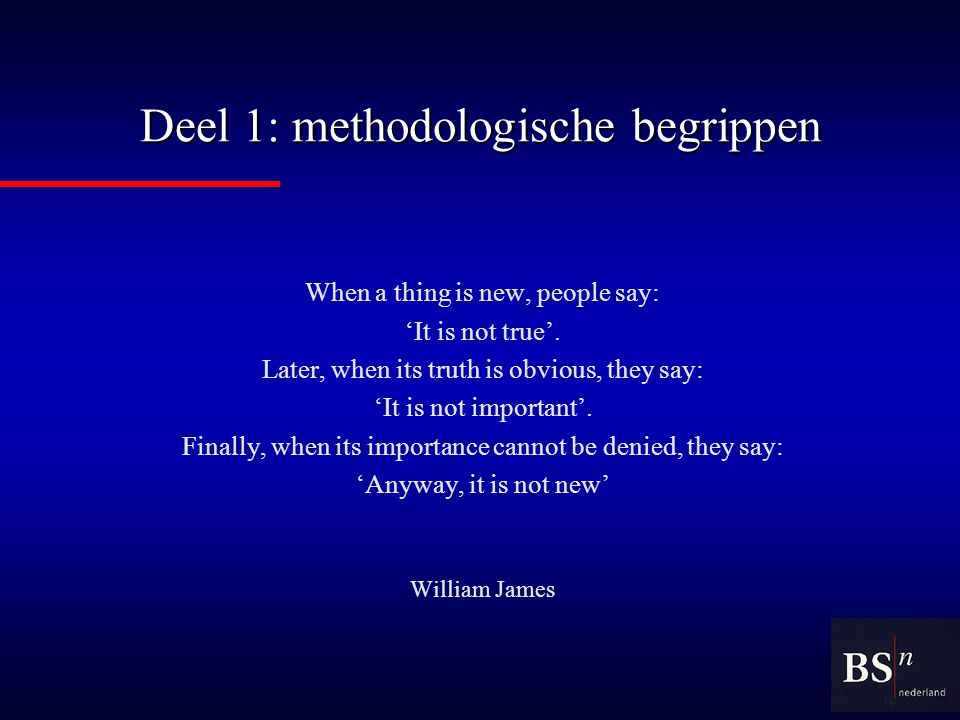 Deel 1: methodologische begrippen