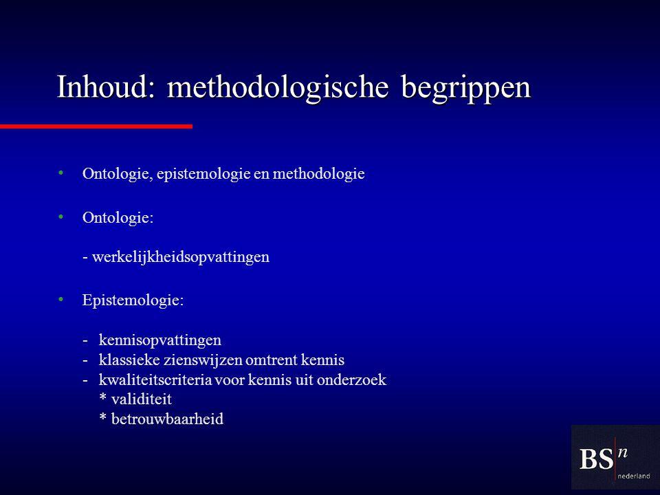 Inhoud: methodologische begrippen