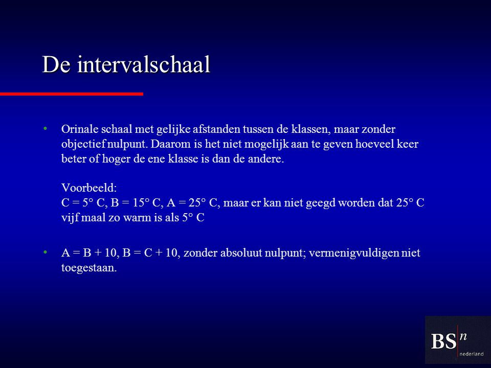 De intervalschaal