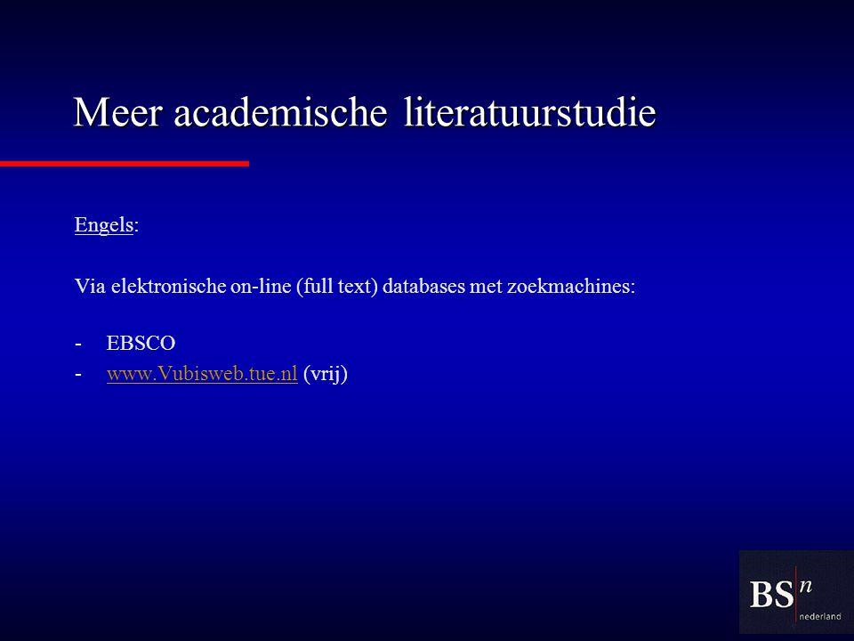 Meer academische literatuurstudie