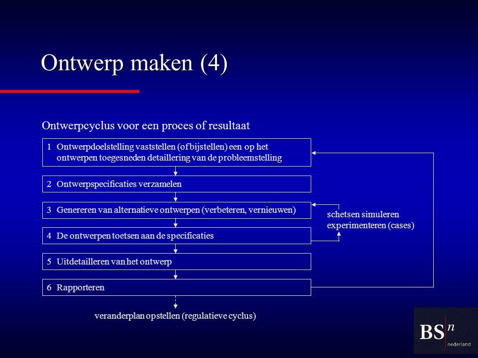 veranderplan opstellen (regulatieve cyclus)