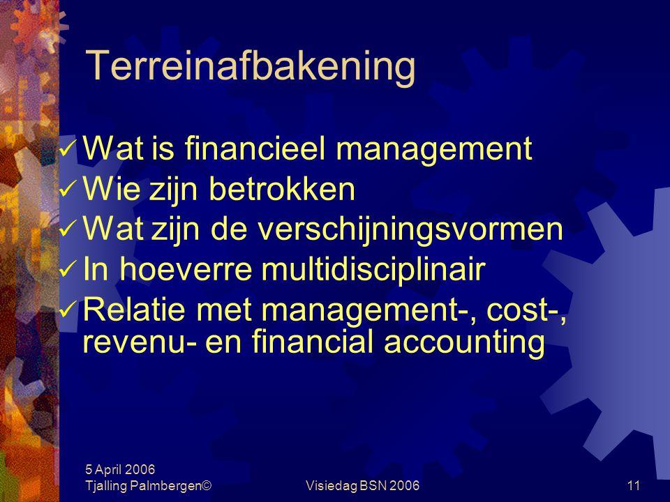 Terreinafbakening Wat is financieel management Wie zijn betrokken