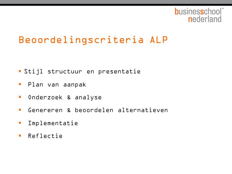 Beoordelingscriteria ALP