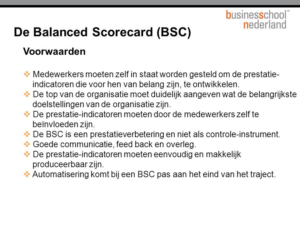 De Balanced Scorecard (BSC)