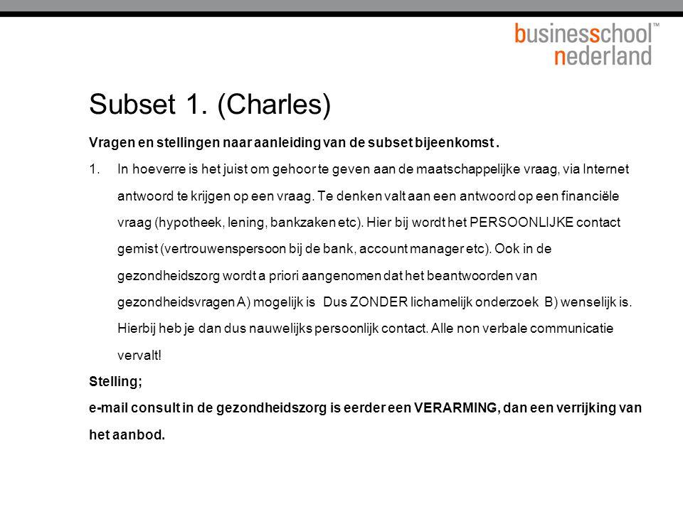Subset 1. (Charles) Titel presentatie