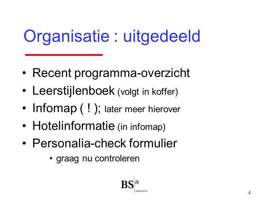Organisatie : uitgedeeld