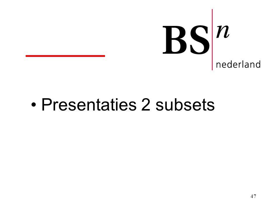 Presentaties 2 subsets