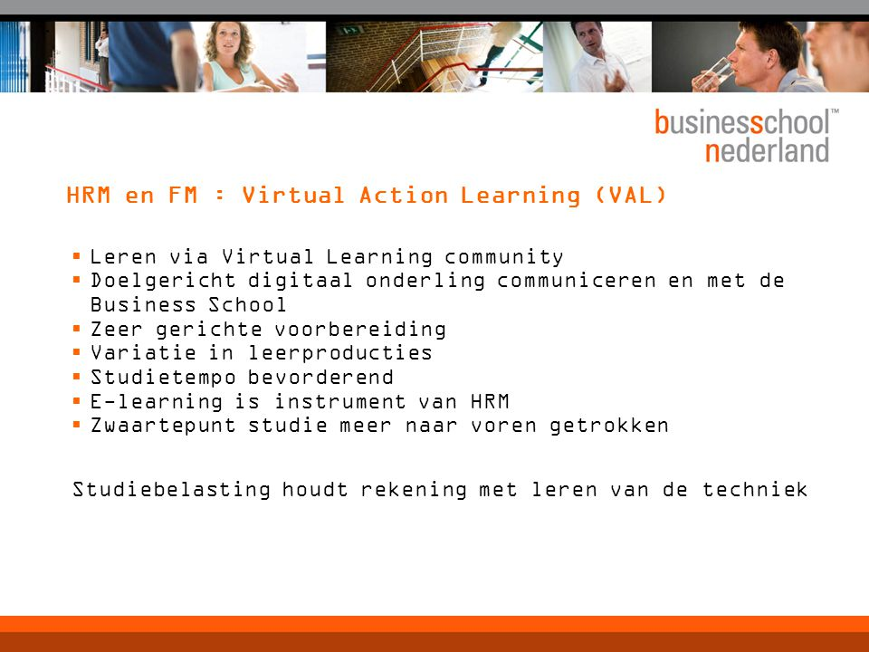 HRM en FM : Virtual Action Learning (VAL)