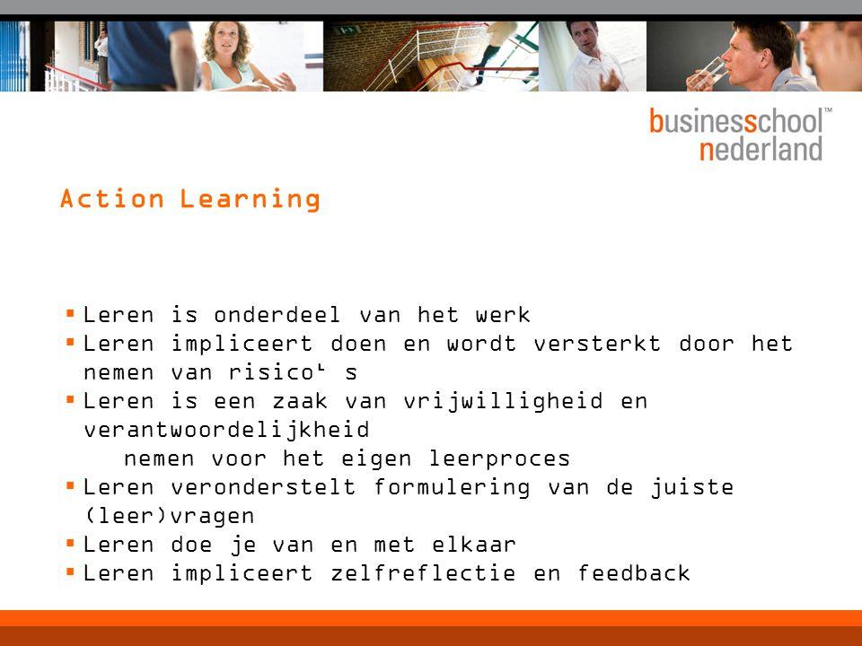 Action Learning Leren is onderdeel van het werk