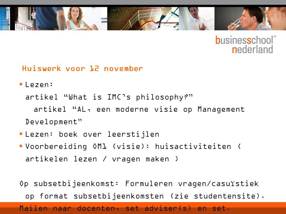 Huiswerk voor 12 november