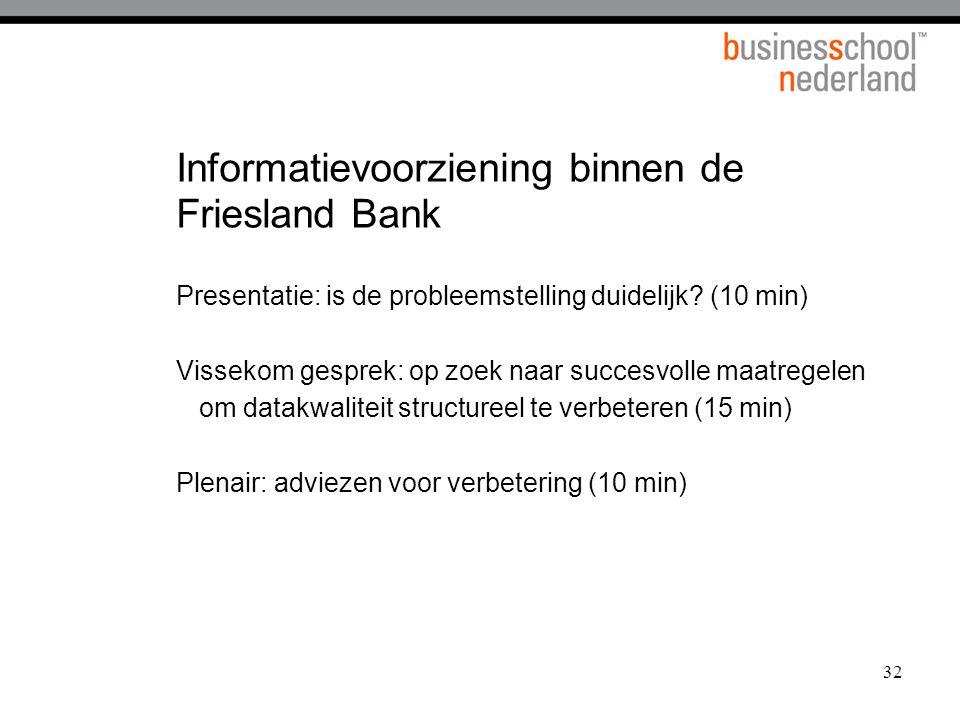 Informatievoorziening binnen de Friesland Bank