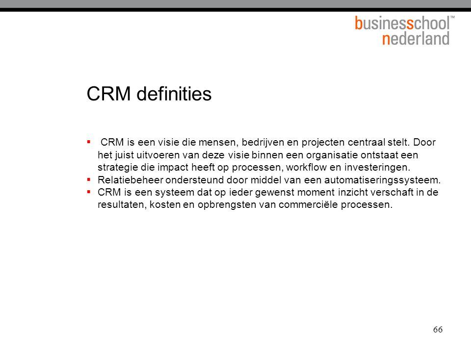 CRM definities