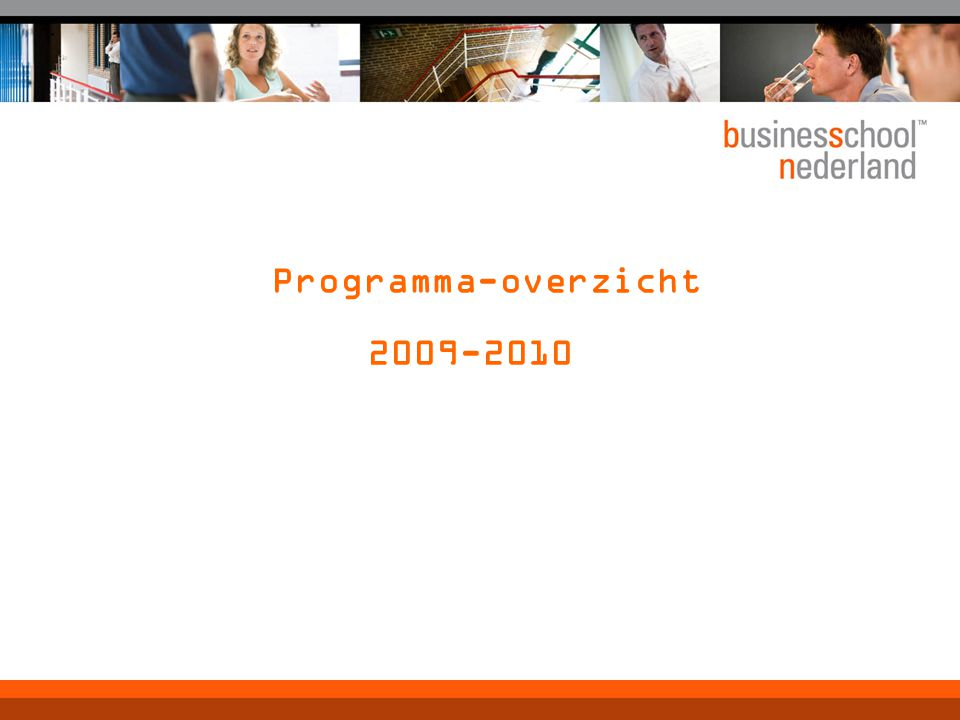 Programma-overzicht 2009-2010