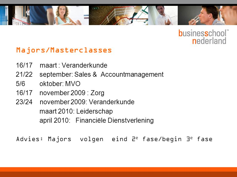 Majors/Masterclasses