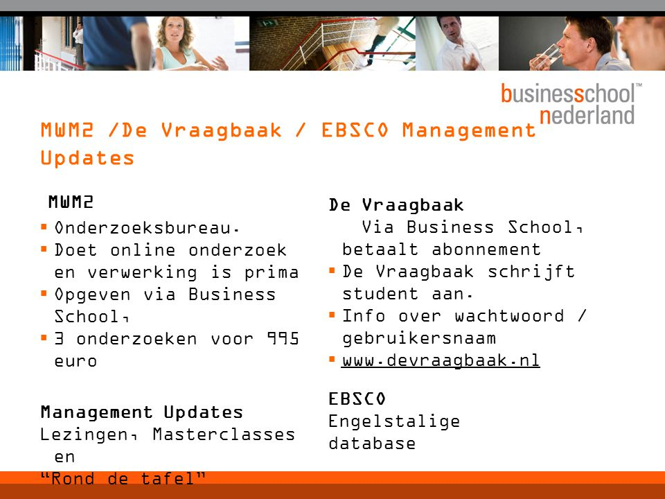 MWM2 /De Vraagbaak / EBSCO Management Updates