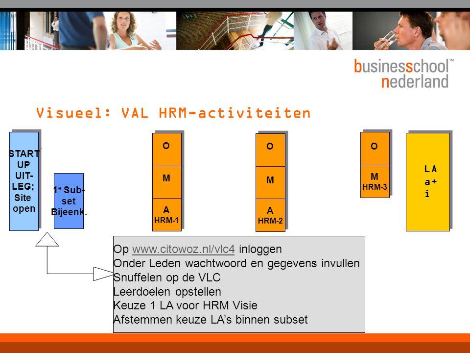 Visueel: VAL HRM-activiteiten