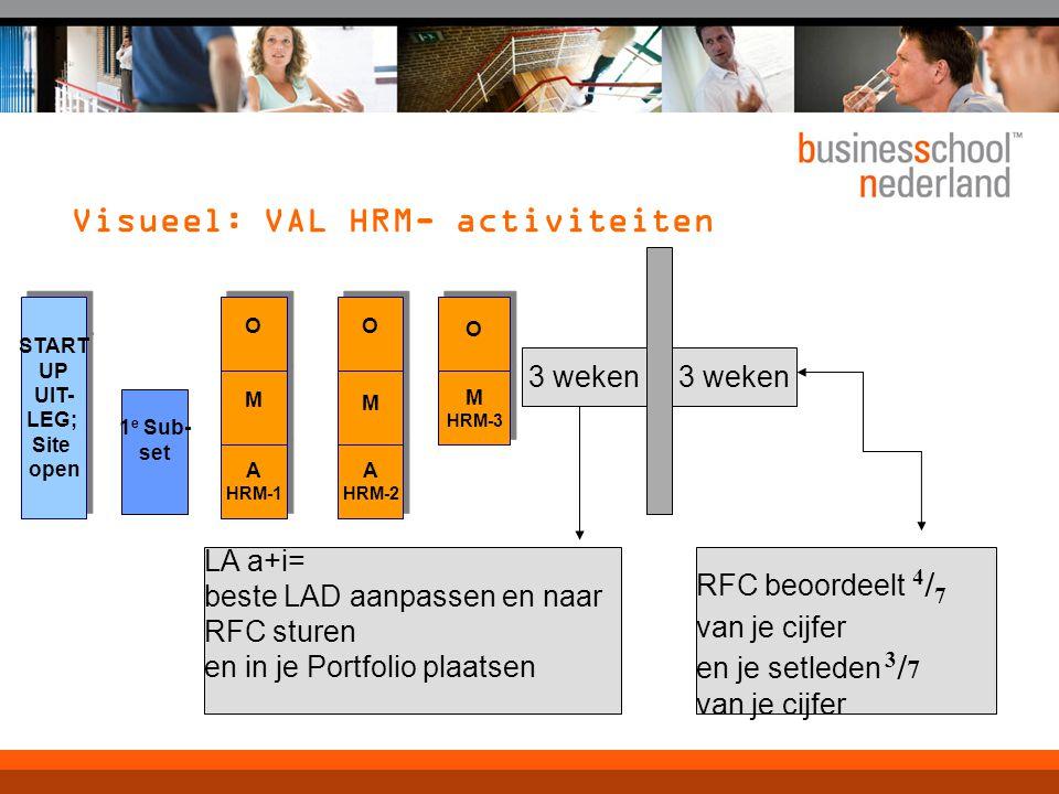 Visueel: VAL HRM- activiteiten