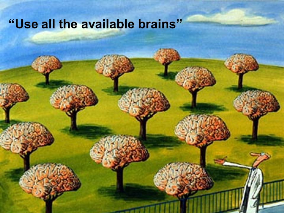 Use all the available brains
