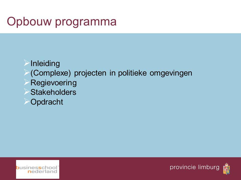 Opbouw programma Inleiding