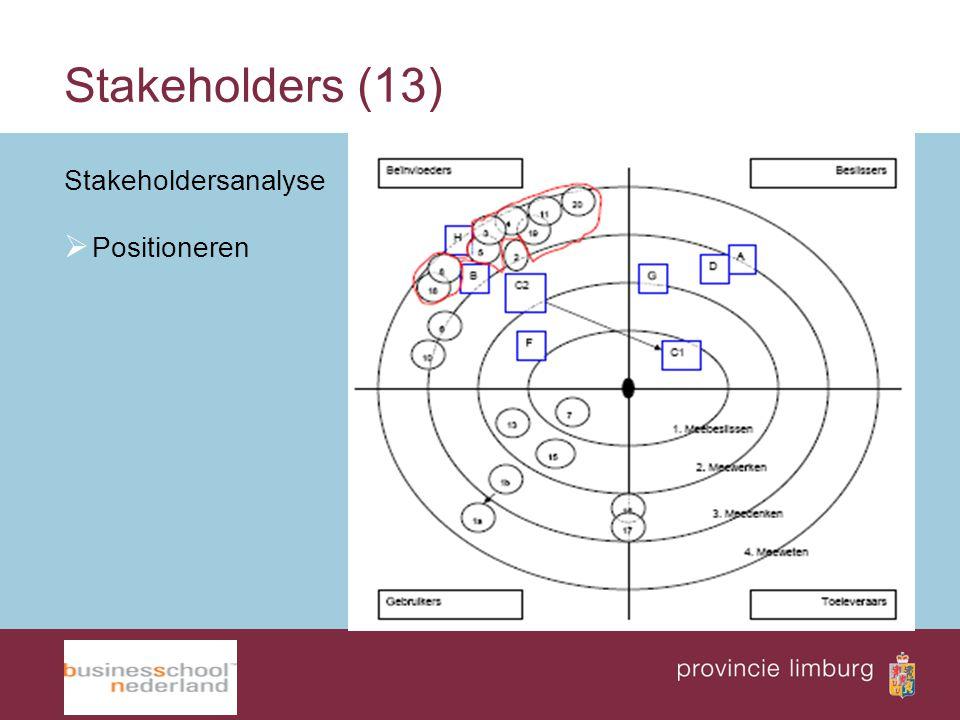 Stakeholders (13) Stakeholdersanalyse Positioneren