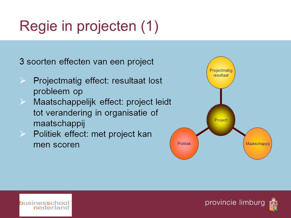 Regie in projecten (1) 3 soorten effecten van een project