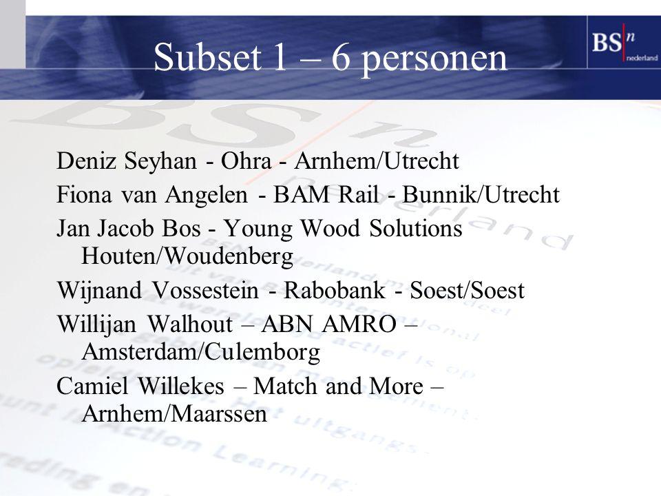 Subset 1 – 6 personen Deniz Seyhan - Ohra - Arnhem/Utrecht