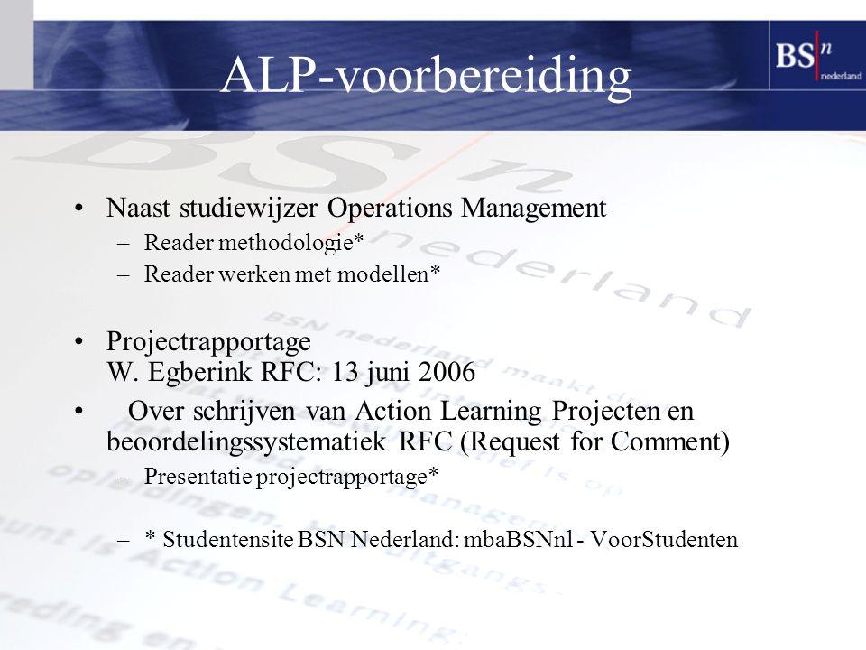 ALP-voorbereiding Naast studiewijzer Operations Management