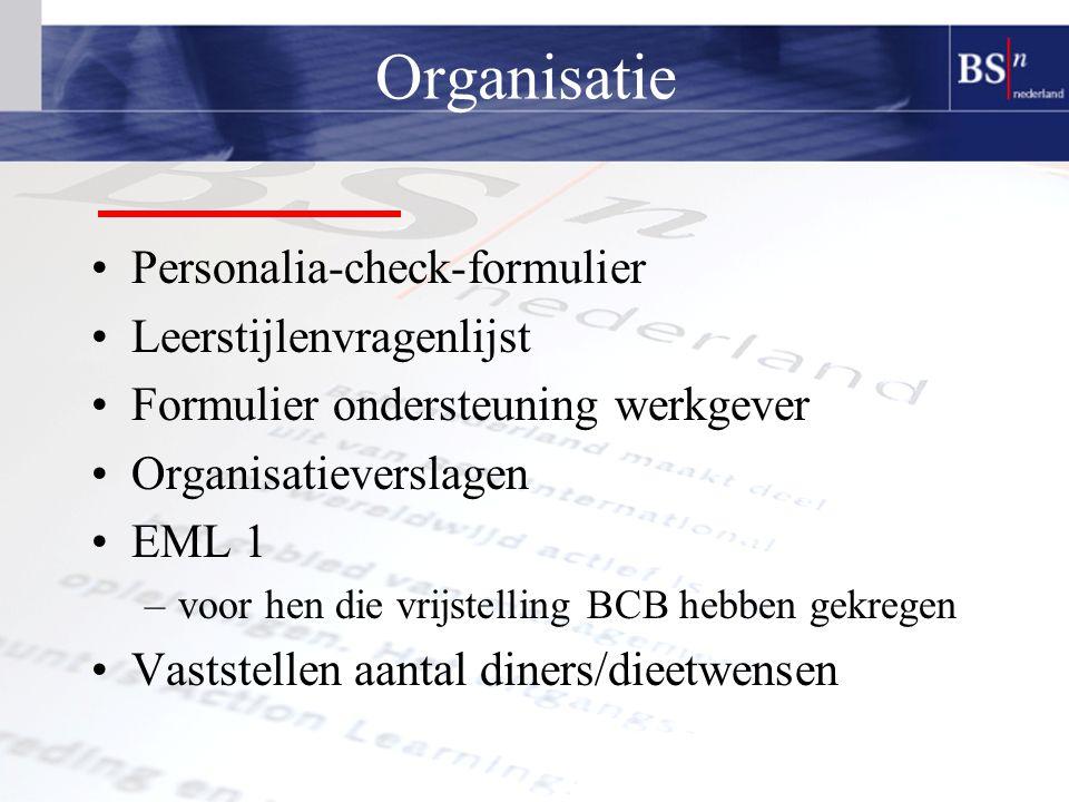 Organisatie Personalia-check-formulier Leerstijlenvragenlijst