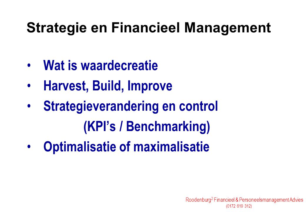 Strategie en Financieel Management
