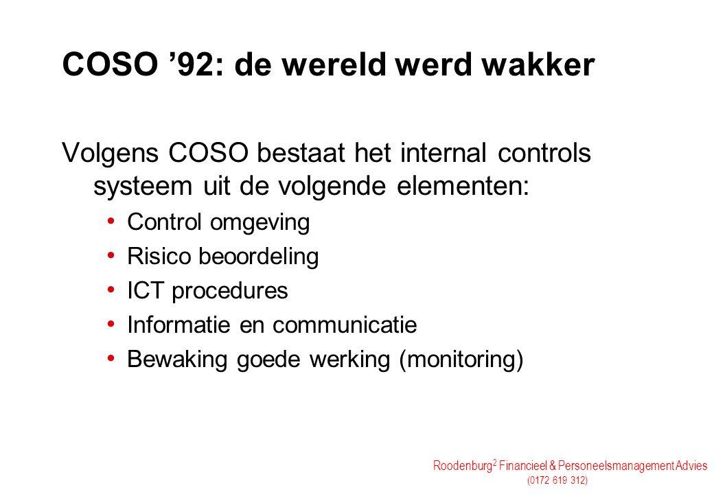 COSO '92: de wereld werd wakker