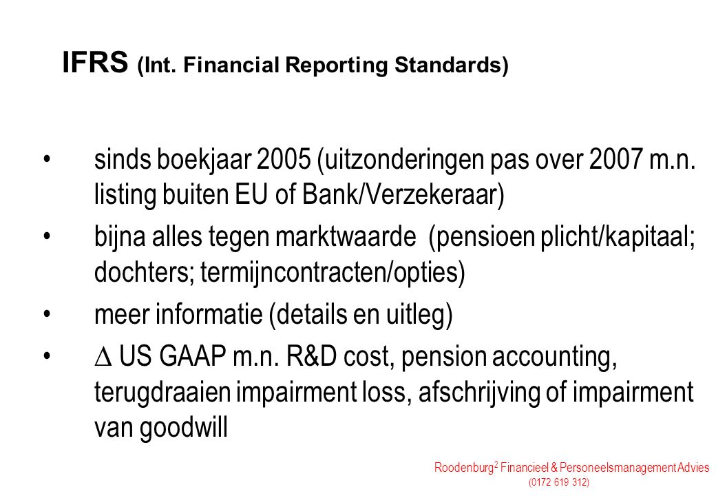IFRS (Int. Financial Reporting Standards)
