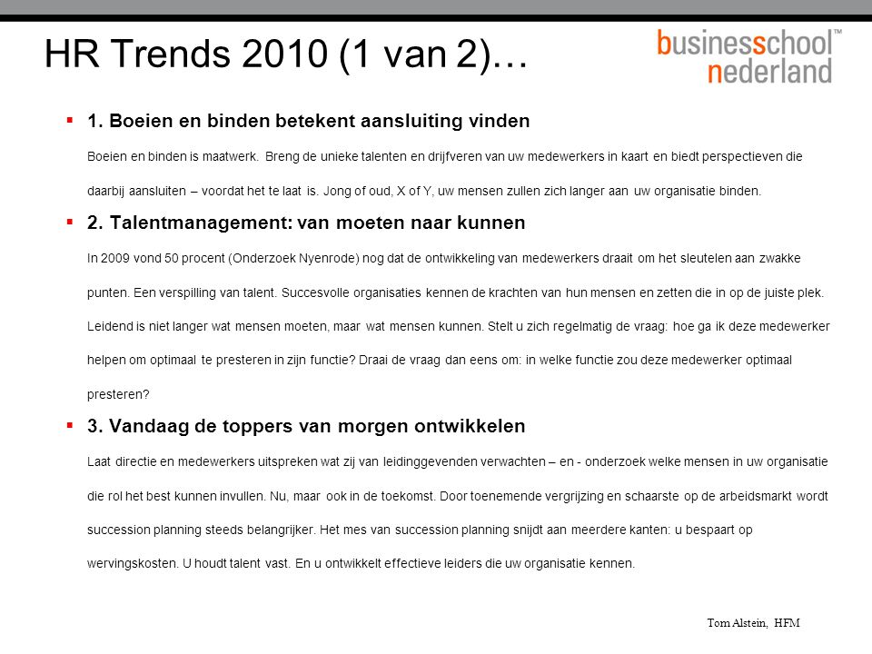 HR Trends 2010 (1 van 2)…