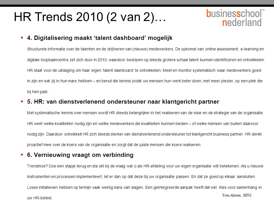 HR Trends 2010 (2 van 2)…