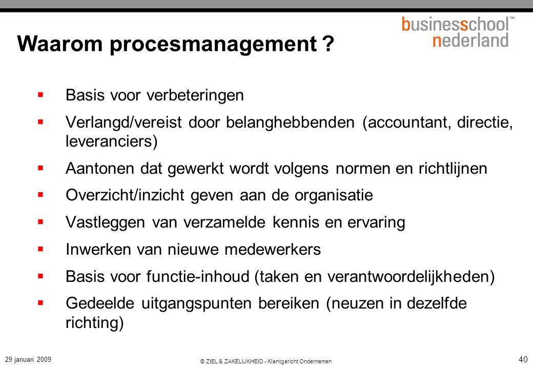 Van functionele organisatie naar procesorganisatie