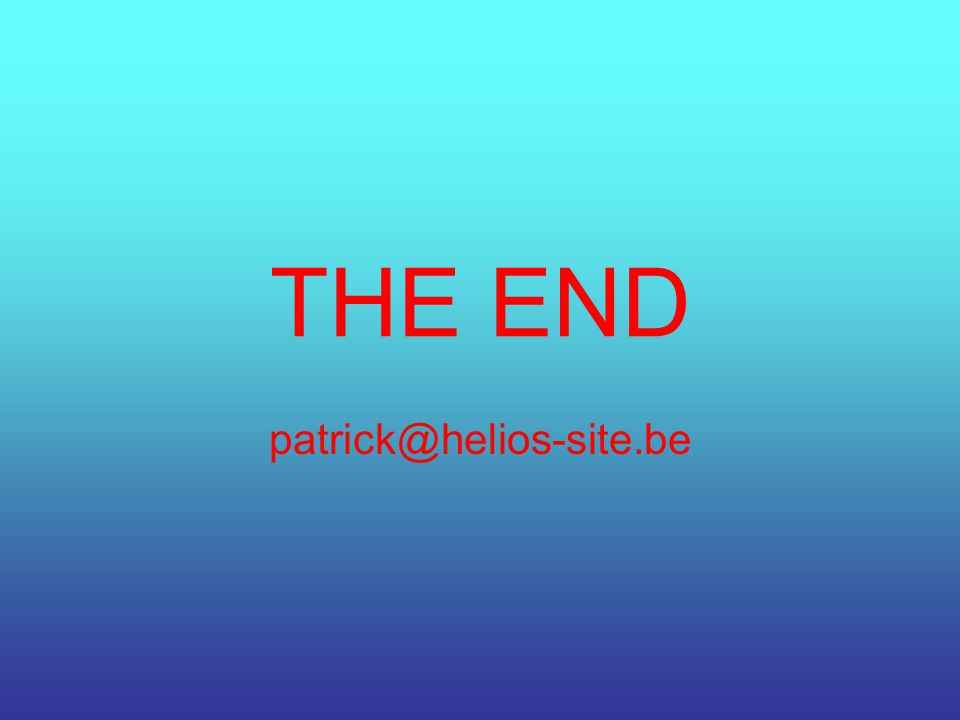 THE END patrick@helios-site.be