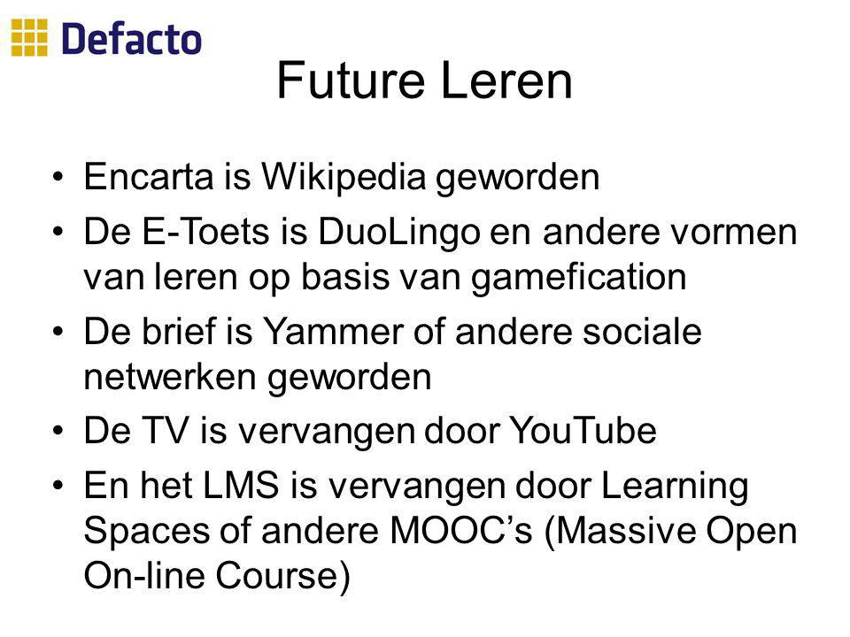 Future Leren Encarta is Wikipedia geworden