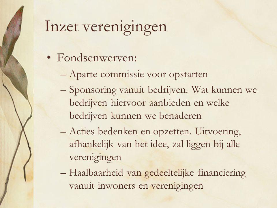 Inzet verenigingen Fondsenwerven: Aparte commissie voor opstarten